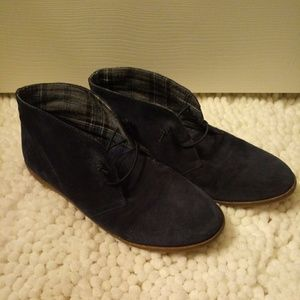 Lucky Brand Blue Suede? Ashbee Booties - 9.5?